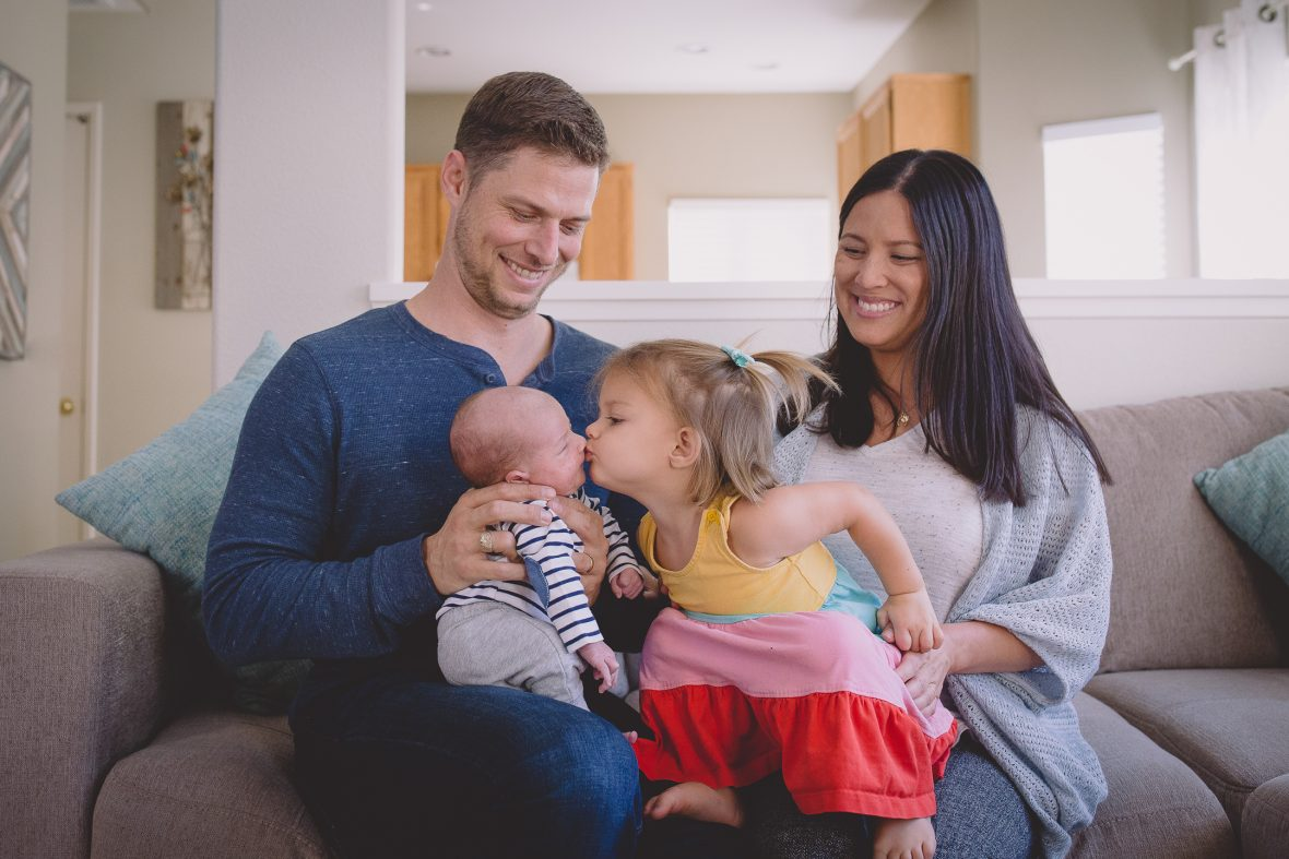 NEWBORN + FAMILY photos: San Diego Home