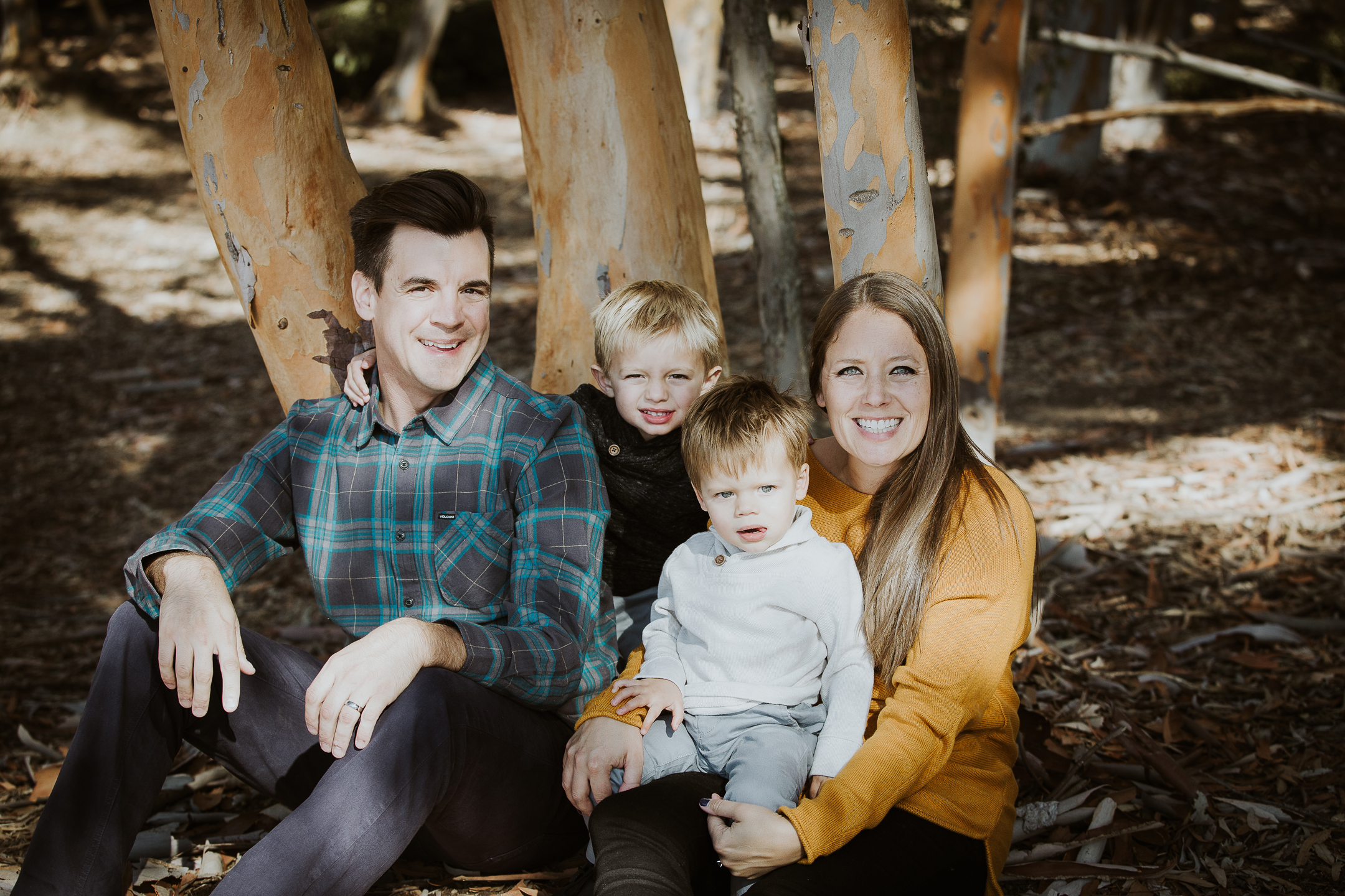 FAMILY photos: Scripps Beach + Woods